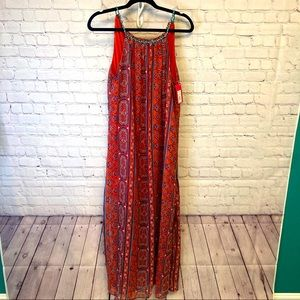 Layered and lovely boho tassel dress size M